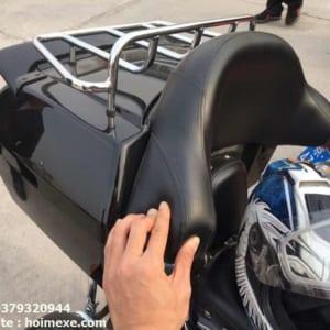 thung sau xe may harley 60 lit