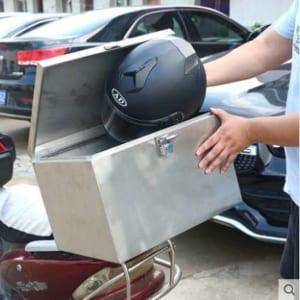 thùng sau xe máy bằng thép